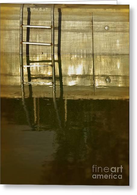Pool Ladder At Sunset Greeting Card by Jill Battaglia