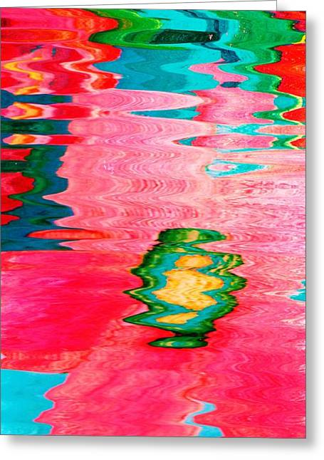 Pool Of Surreal Dreams Greeting Card by Anne-Elizabeth Whiteway