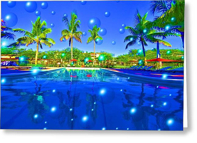 Pool Party Greeting Card