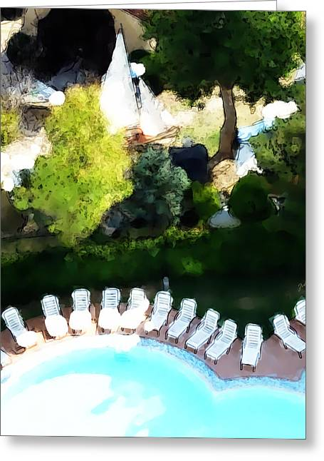 Pool - Piscina Greeting Card by Ze  Di
