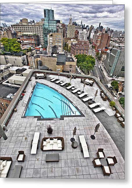 Pool With A View Greeting Card