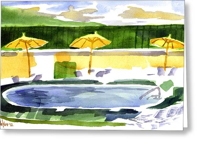 Poolside Greeting Card by Kip DeVore