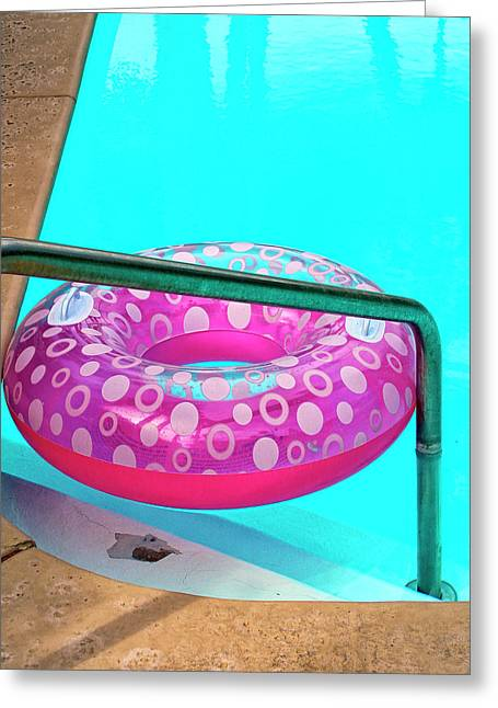 Pool Time Palm Springs Greeting Card by William Dey