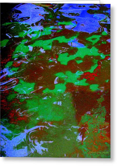 Poolwater Abstract Greeting Card by Deborah  Crew-Johnson