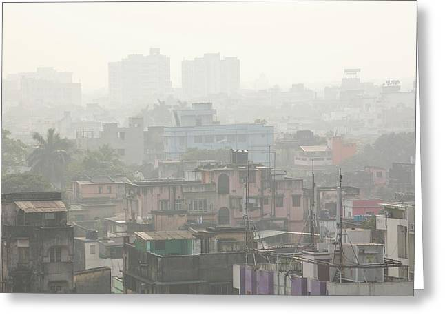 Poor Air Quality And Pollution Greeting Card by Ashley Cooper