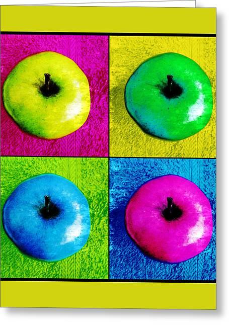 Pop Art Apples Greeting Card