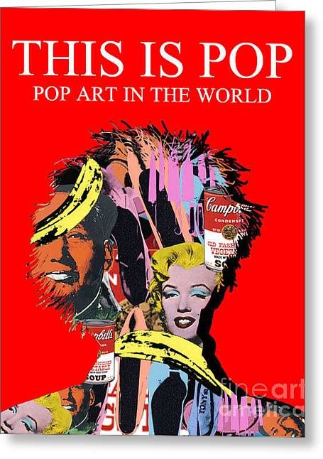 Pop Art Greeting Card by Elena Mussi