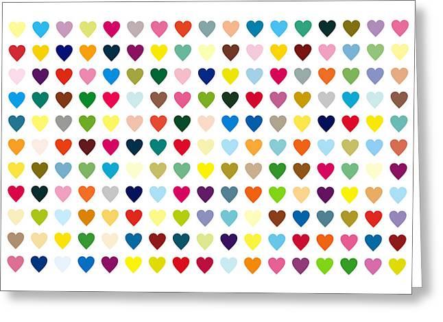 Pop Art Heart Greeting Card by Mark Preston