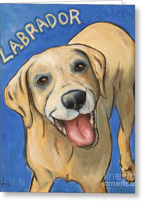 Pop Art Labrador Greeting Card by Robin Wiesneth