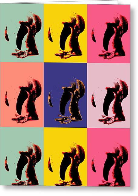 Pop Art Penguin  Greeting Card