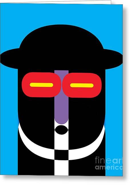 Pop Art People 10 Greeting Card by Edward Fielding