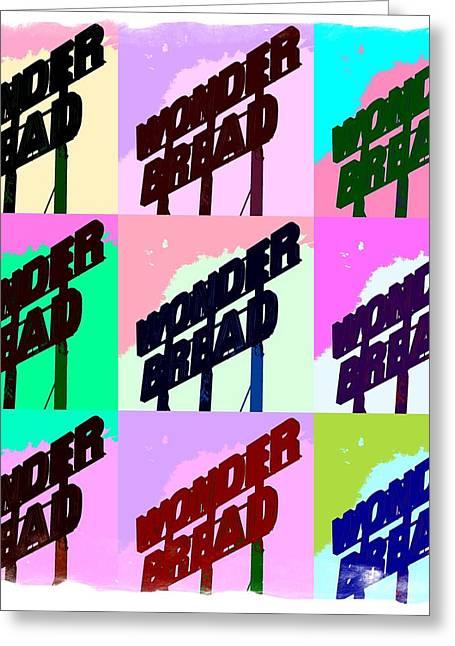 Pop Art Series - Wonder Bread Greeting Card by Ron Grafe