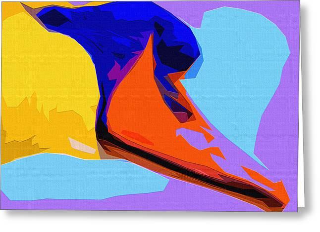 Pop Art Swan Greeting Card