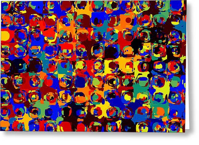Pop Colors 14 Greeting Card by Craig Gordon