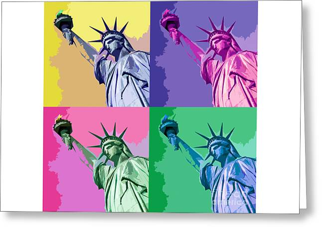 Pop Liberty Greeting Card