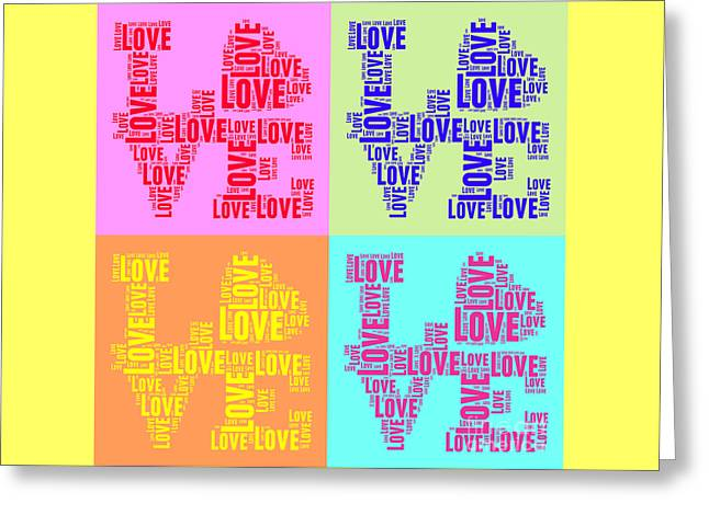 Pop Love Collage Greeting Card