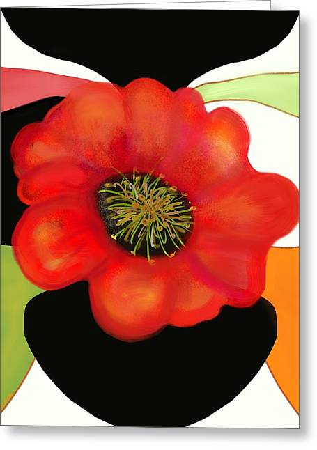 Pop Poppy Greeting Card