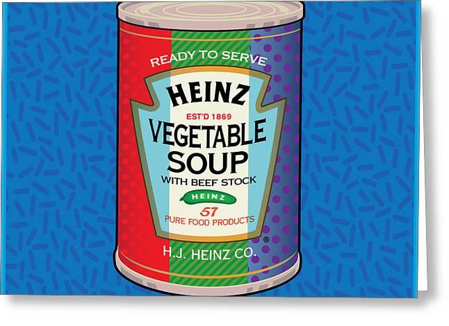 Pop Vegetable Soup Greeting Card
