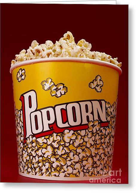 Popcorn Bucket Greeting Card by Diane Diederich