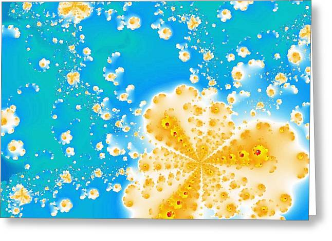 Popcorn Galaxy Greeting Card by Anastasiya Malakhova