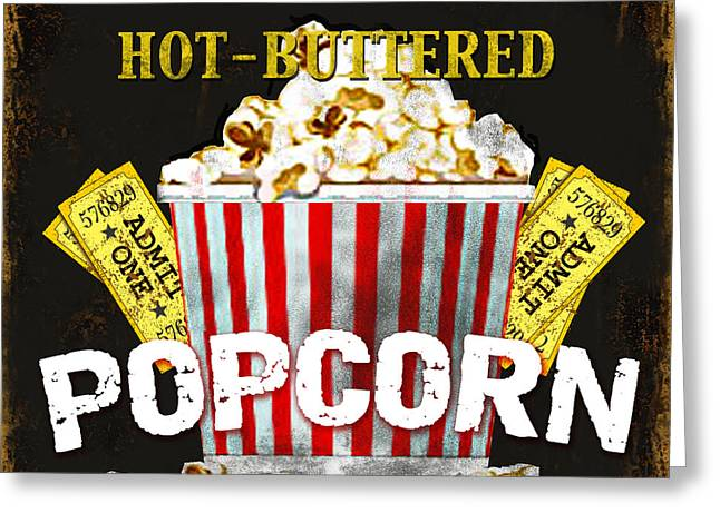 Popcorn Please Greeting Card