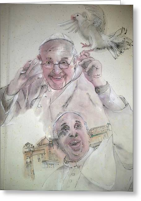 Pope Francis Album Greeting Card
