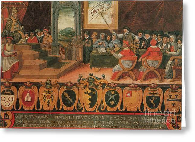 Pope Gregory Xiii Calendar Reform 1582 Greeting Card