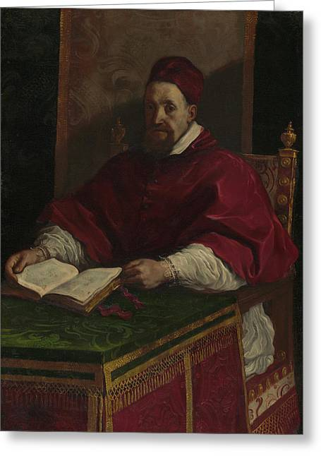 Pope Gregory Xv Guercino Giovanni Francesco Barbieri Greeting Card by Litz Collection