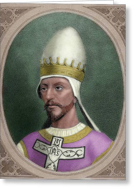 Pope Saint Gregory Vii (c Greeting Card by Prisma Archivo