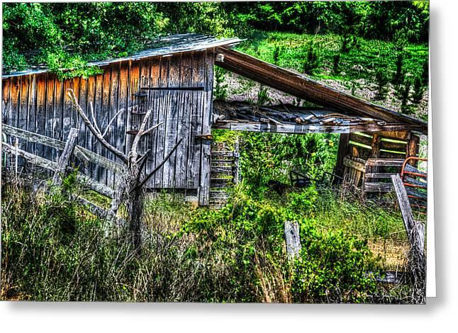 Farm - Barn - Pope - Water Valley Barn Greeting Card by Barry Jones