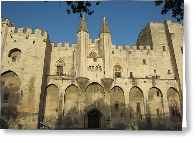 Popes Palace In Avignon Greeting Card by Pema Hou