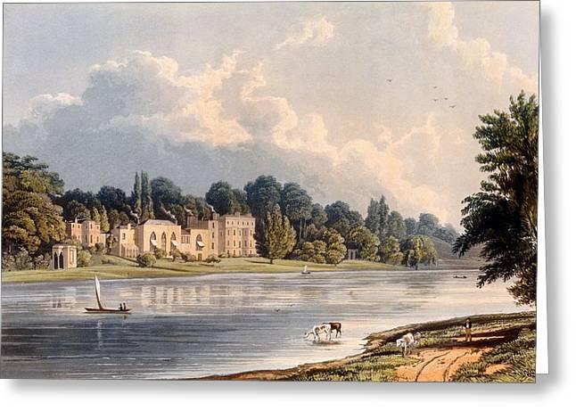 Popes Villa At Twickenham, 1828 Greeting Card