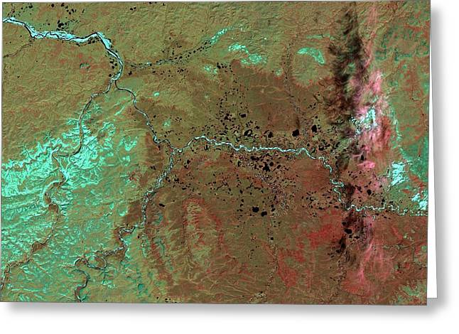 Popigai Crater Greeting Card by Nasa