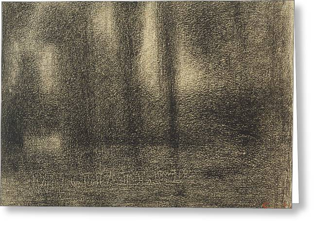 Poplars Georges Seurat, French, 1859 - 1891 France Greeting Card by Litz Collection