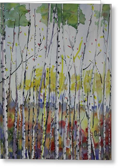 Poplars In Fall Greeting Card