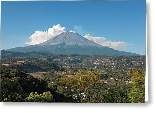 Popocatepetl Volcano Greeting Card by Daniel Sambraus