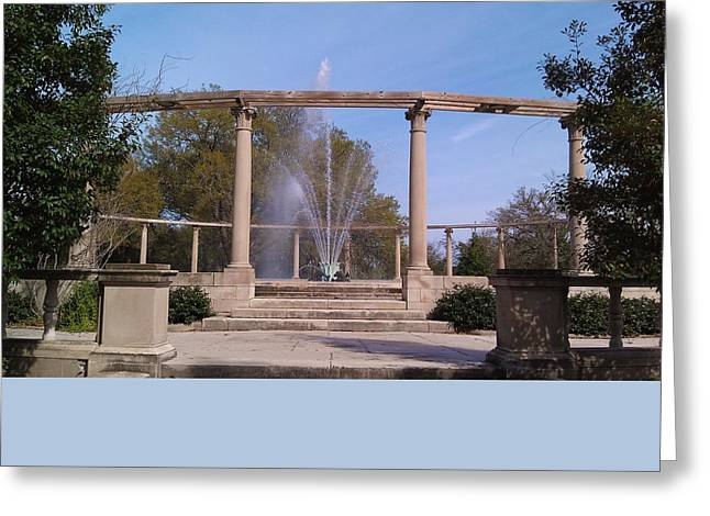 Popp Fountain New Orleans City Park Greeting Card