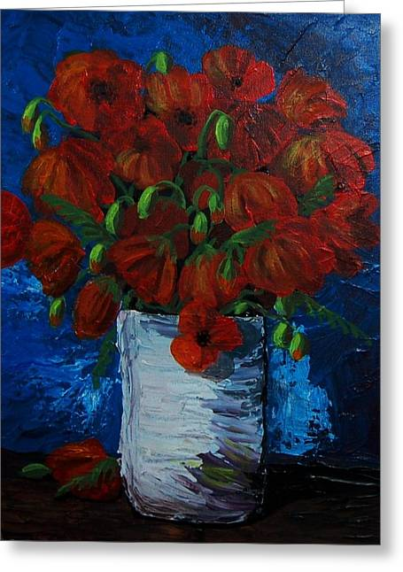Poppies Greeting Card by Anne Parker