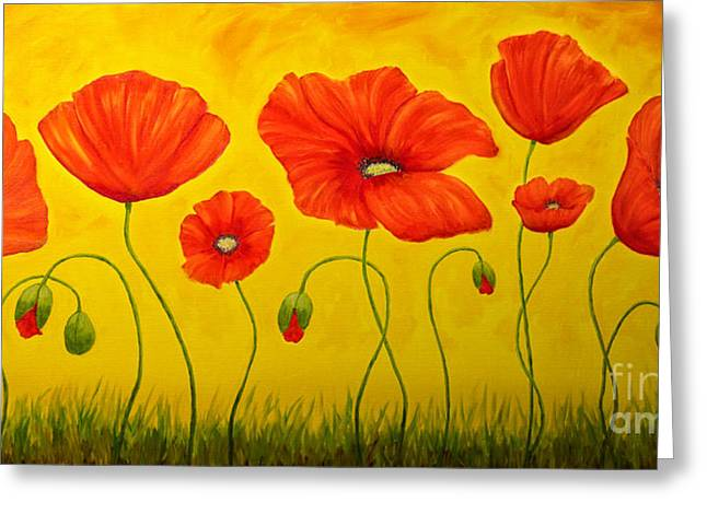 Poppies At The Time Of Greeting Card