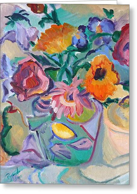 Poppies Greeting Card by Brenda Ruark