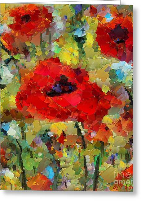 Poppies Greeting Card by Dragica  Micki Fortuna