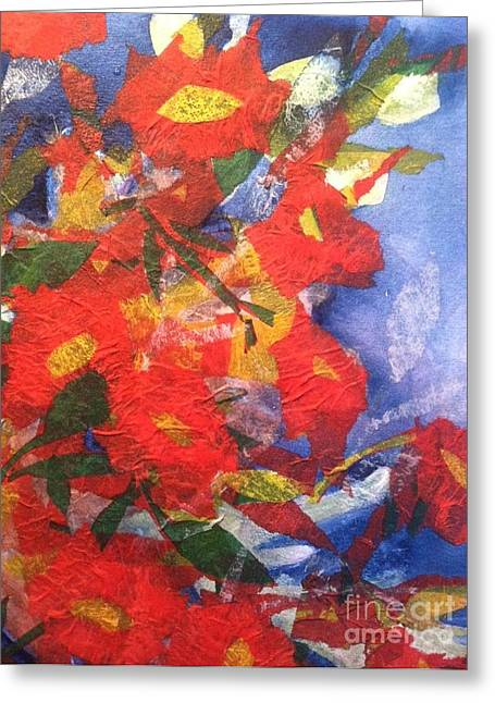 Poppies Gone Wild Greeting Card