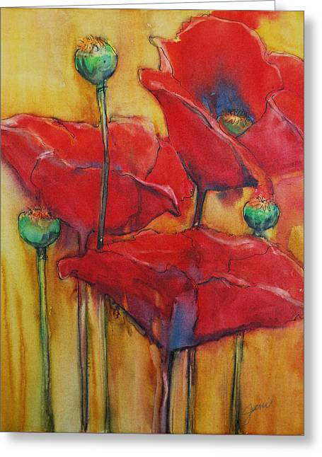Poppies IIi Greeting Card by Jani Freimann