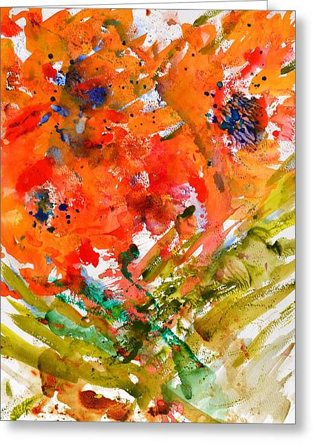 Poppies In A Hurricane Greeting Card