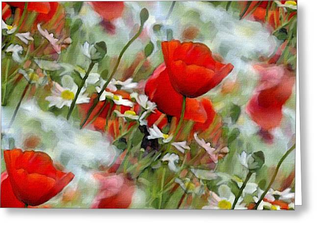 Poppies In The Field Greeting Card