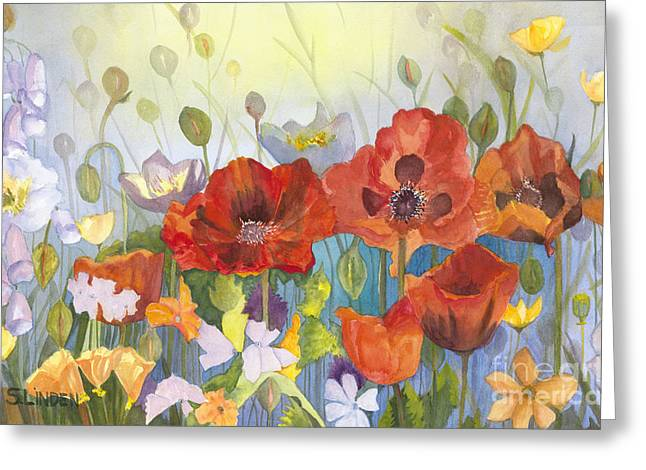 Poppies In The Light Greeting Card