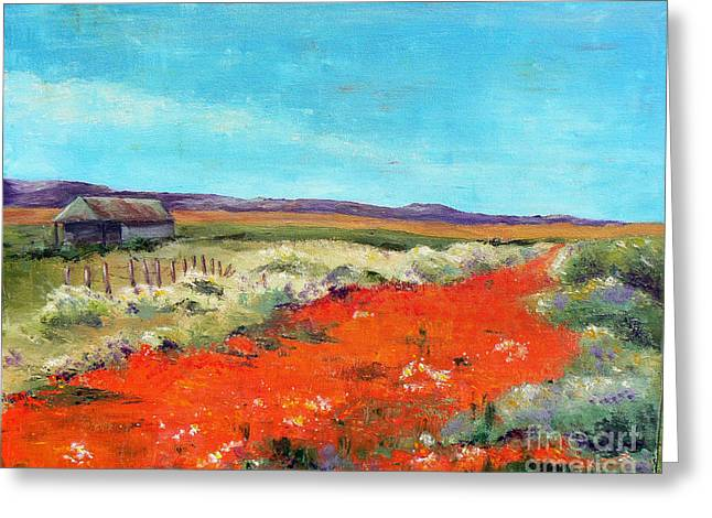 Poppies In The Meadow Greeting Card
