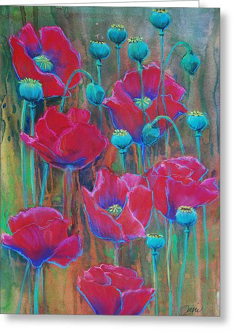 Poppies  Greeting Card by Jani Freimann