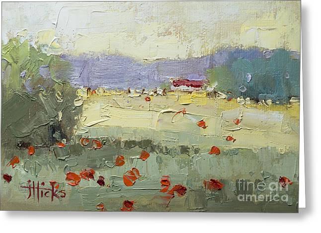 Poppies Greeting Card by Joyce Hicks