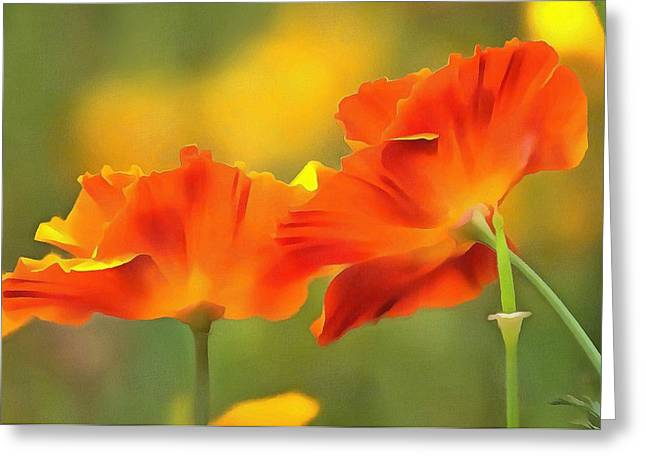 Greeting Card featuring the photograph Poppies by Marion Johnson